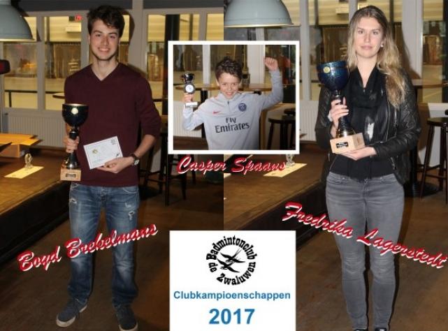 Fredrika, Boyd en Casper grote winnaars op de Clubkampioenschappen 2017